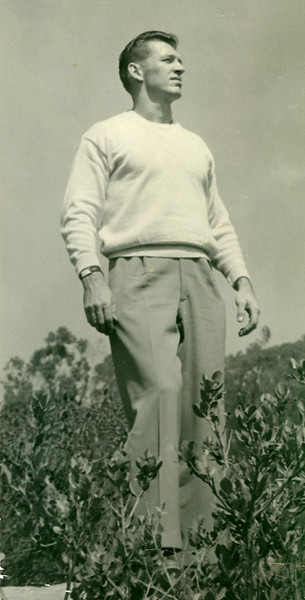 Elwood in the hills above Laguna Beach, October 1950