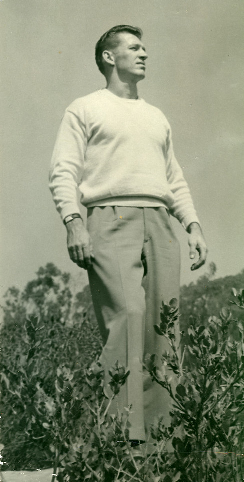 Elwood in the hills above Laguna Beach, October 1950