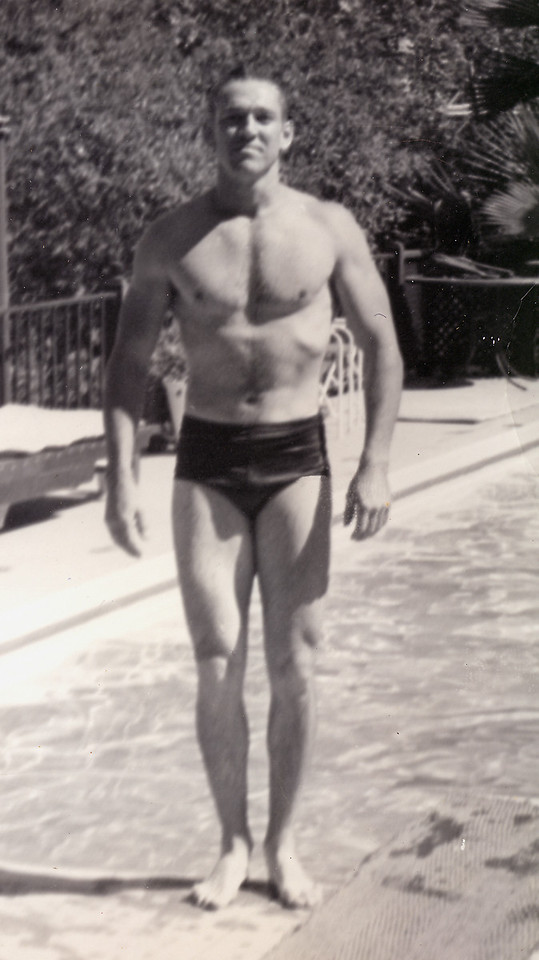 Elwood in 1950 at a Bel Air Pool Party