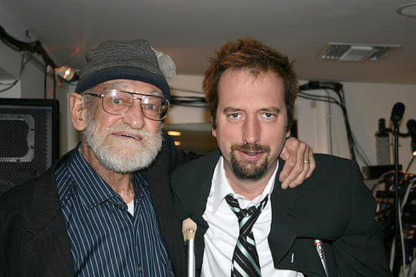 Elwood with entertainer Tom Green (former husband of Drew Barrymore)