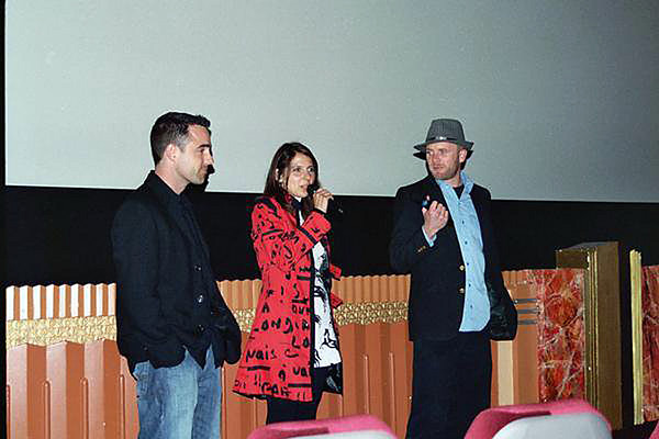 "Christian Ackerman, far right, at the premier of his movie ""Elwood Carlisle Superstar!"""
