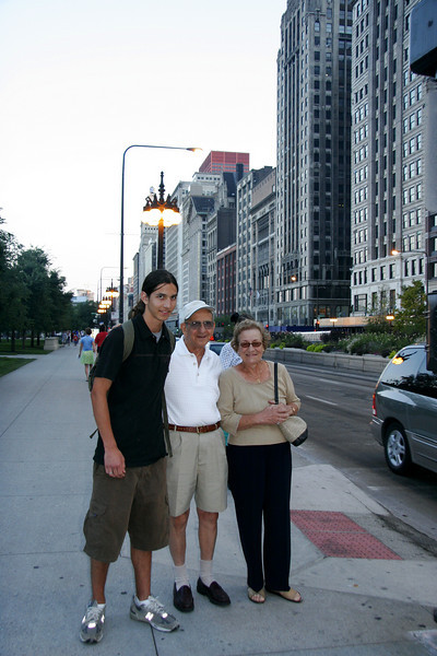 Nick, Uncle Toddy and Aunt Rose on Michigan Avenue in Chicago