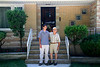 Nick and Uncle Toddy in front of Grandpa and Grandma Cavato's house in Burnside in Chicago