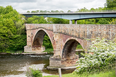 Old Bridge over River Tweed Melrose Scottish Borderlands