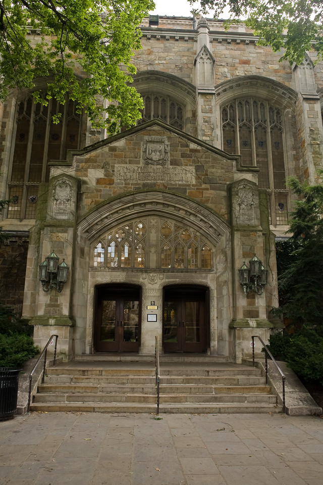 One of the buildings on the law school quad.