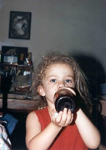 Naomi, July 1992, Taken with Canon T70, Kodak film, Scanned from print