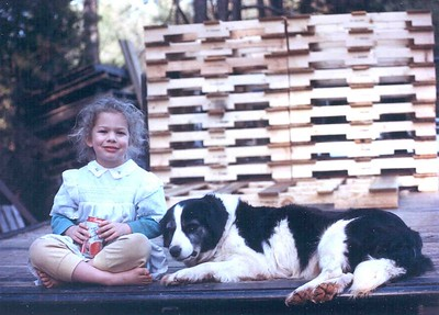 Naomi and Hot Dog, 1993, Taken with Canon T70, Kodak film, Scanned from print