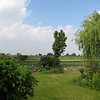 View from side gate, over the fields.