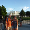 First stop - the White House - Uwe asked if we could ring the bell to see if Barack and Michelle are in.