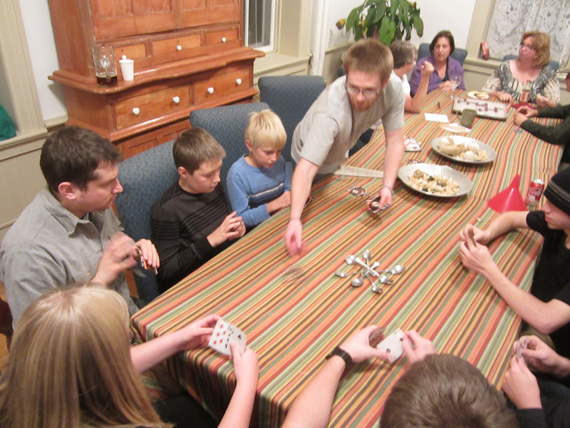 LUCK BE A LADY - Walsh grandkids play a game of spoons.