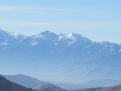 CARSON VALLEY (November 2012) -- Lake Tahoe is over these hills.