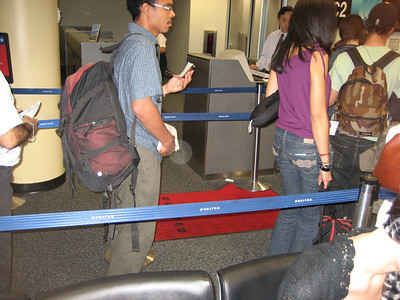 the infamous red carpet that first class passengers could walk across to board the plane