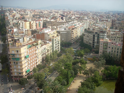 Sagrada Famiglia view from top