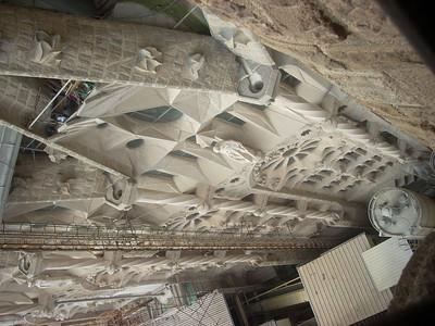 Sagrada Famiglia view down facade
