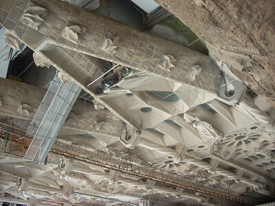Sagrada Famiglia looking down