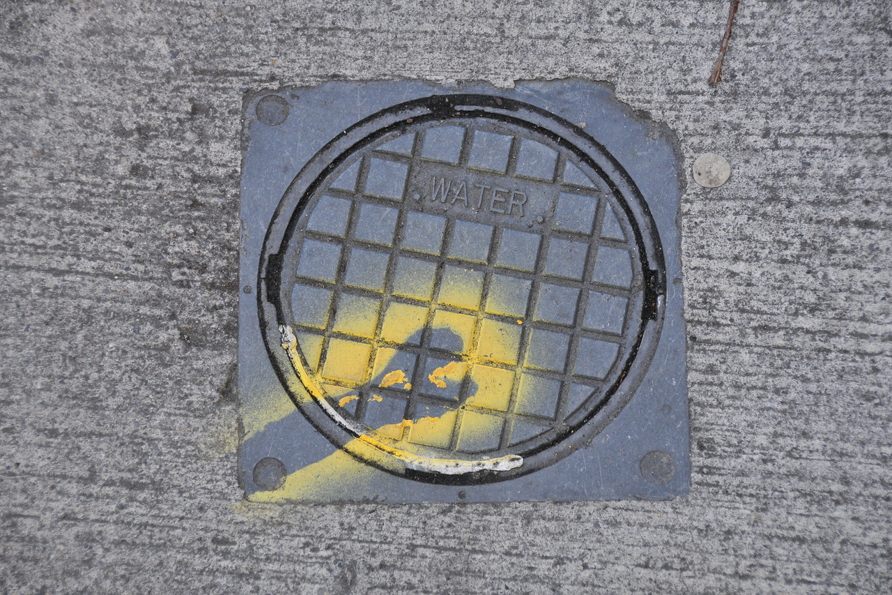 This kind of mark was on almost all utility covers