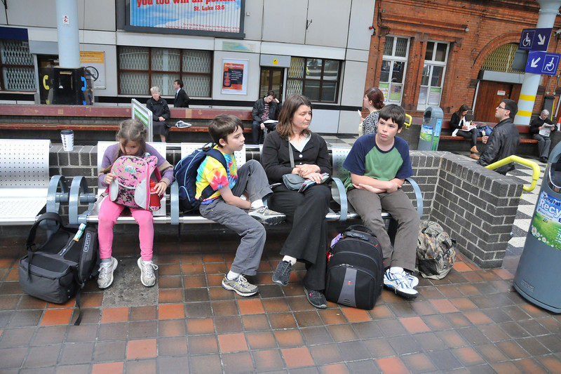 Waiting at Connolly Station again.