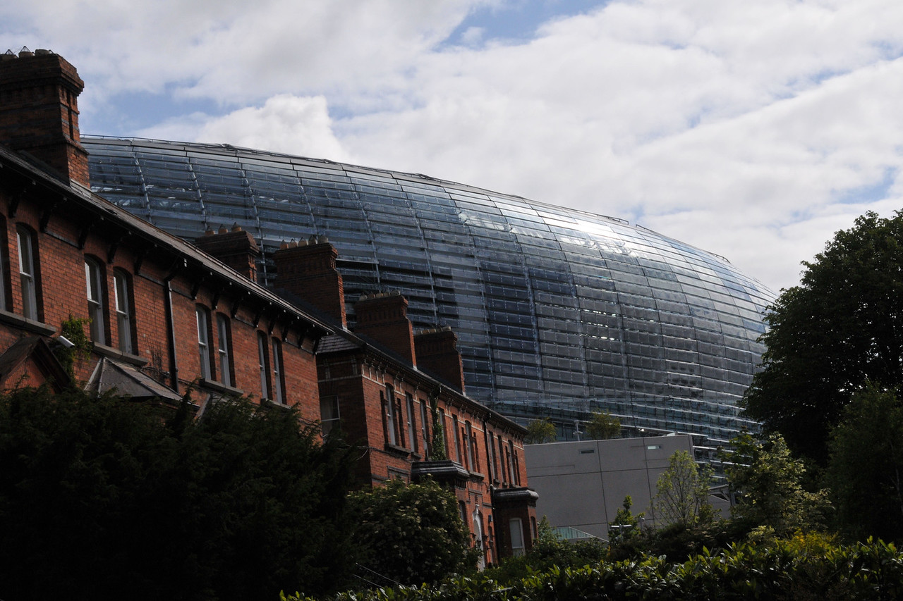 Aviva Stadium, from the steps of our lodging