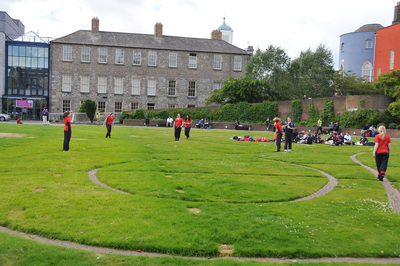 Dublin Castle green.