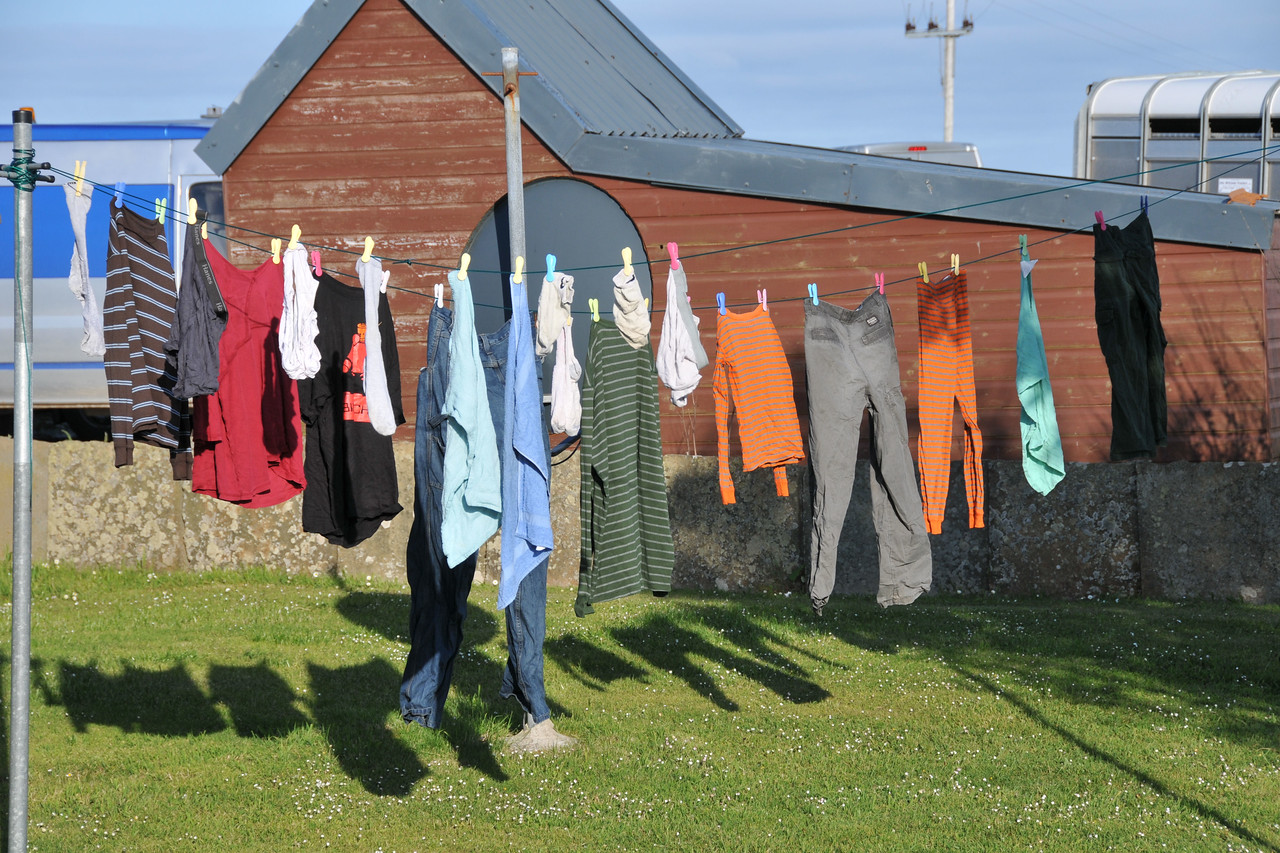 How to dry clothes in north Scotland (this was much faster than using the actual dryer).
