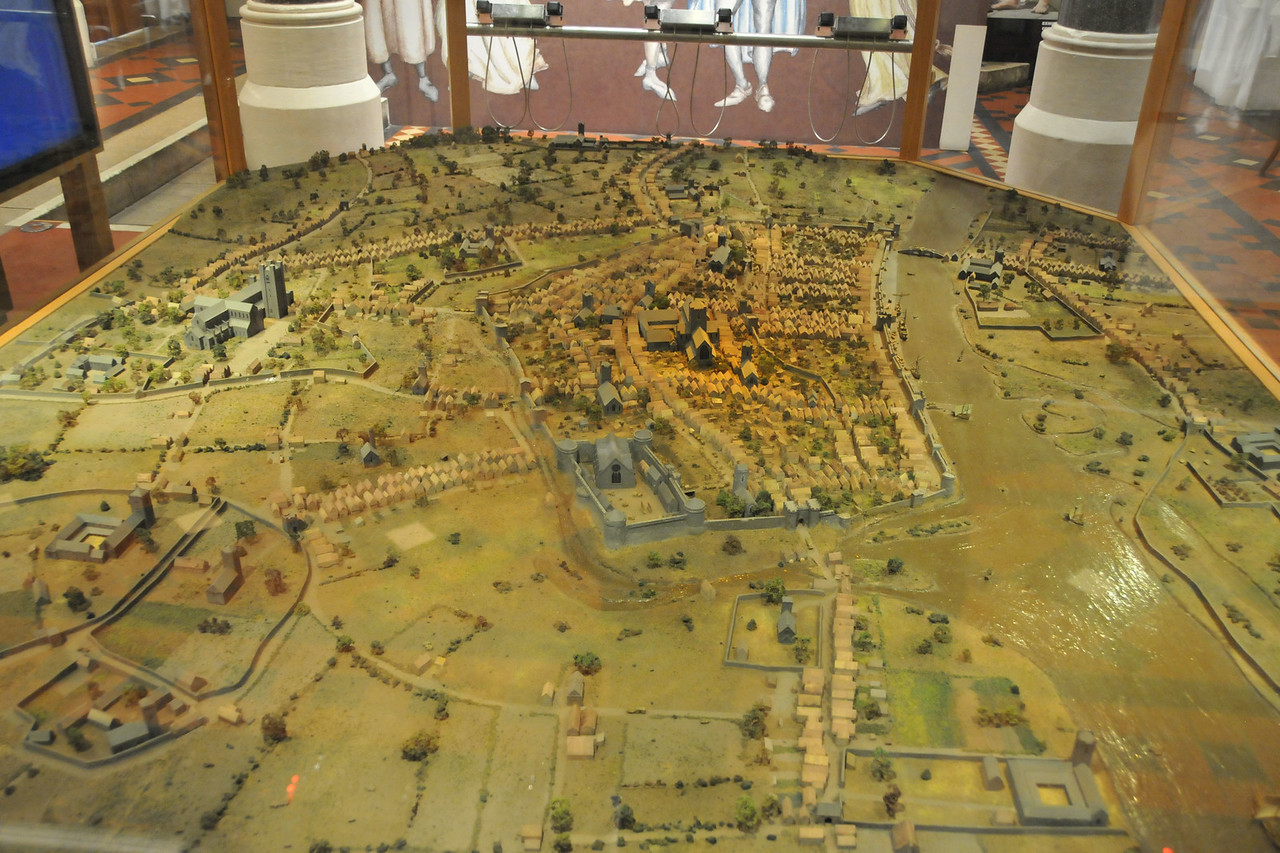 Model of historic Dublin.