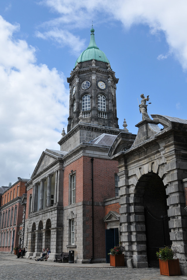 Dublin Castle clock tower.