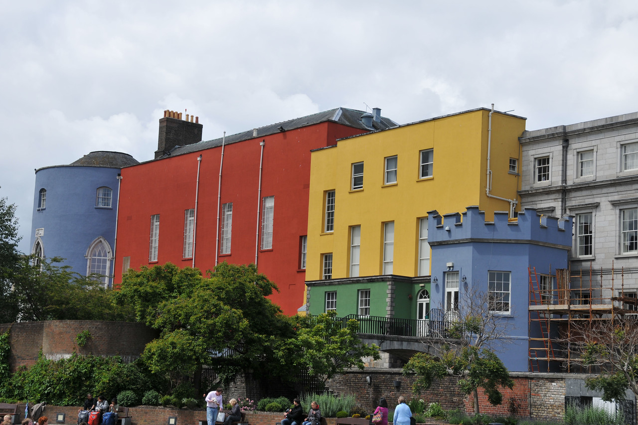 Back of Dublin Castle, with an interesting paint scheme.