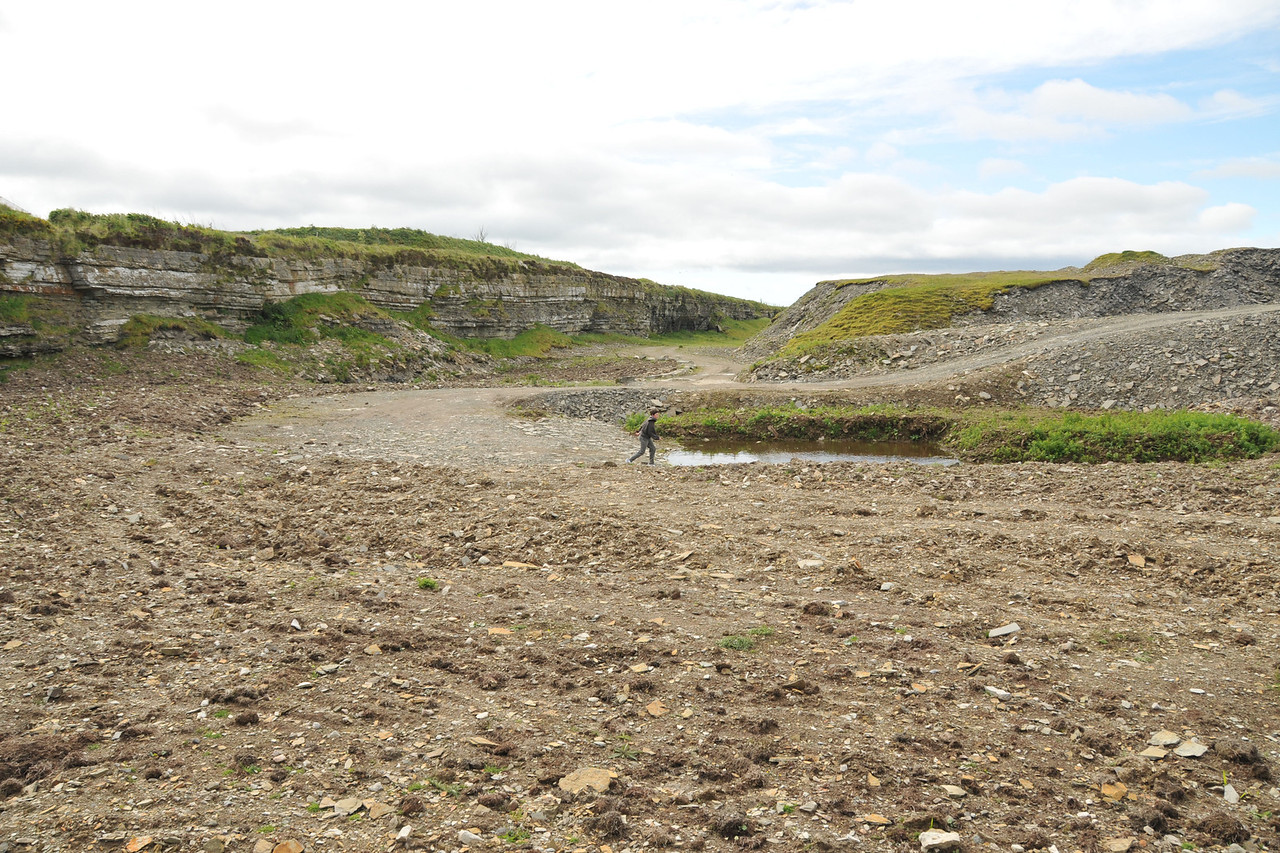 Another view of the quarry, with Corwin for scale.