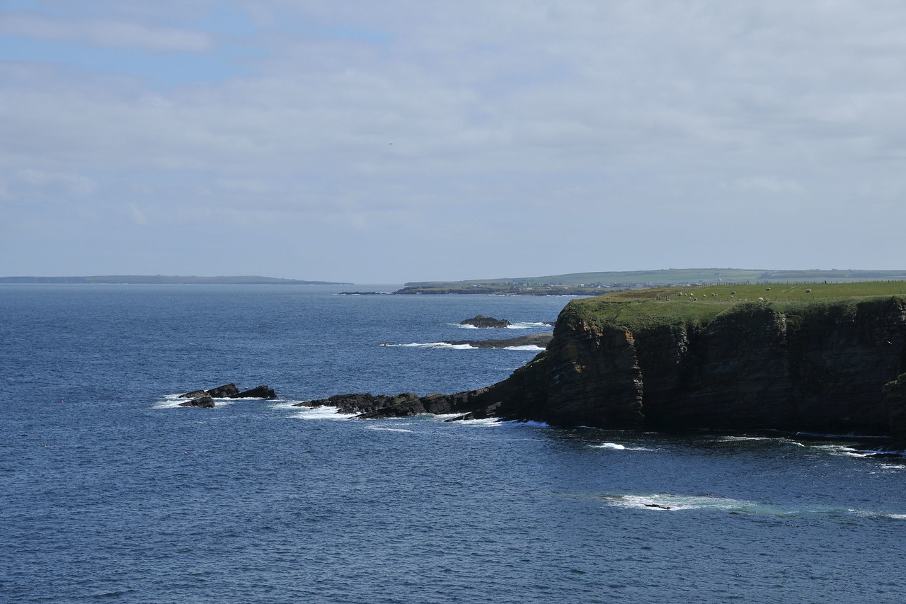 Looking further out (island on the left).