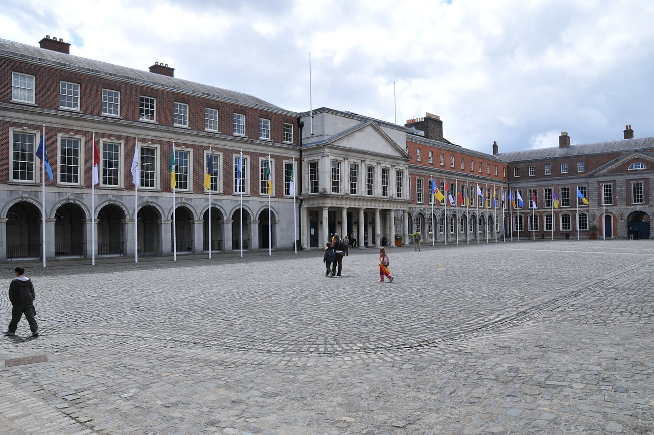 Dublin castle courtyard.