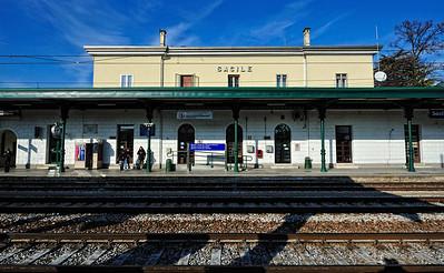 Sacile train station.  Trip to Venice, Italy (01-18-2010)