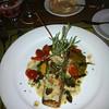 Bryan ordered the salmon. Terrific dish.