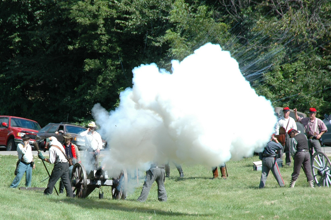 Cannon fires