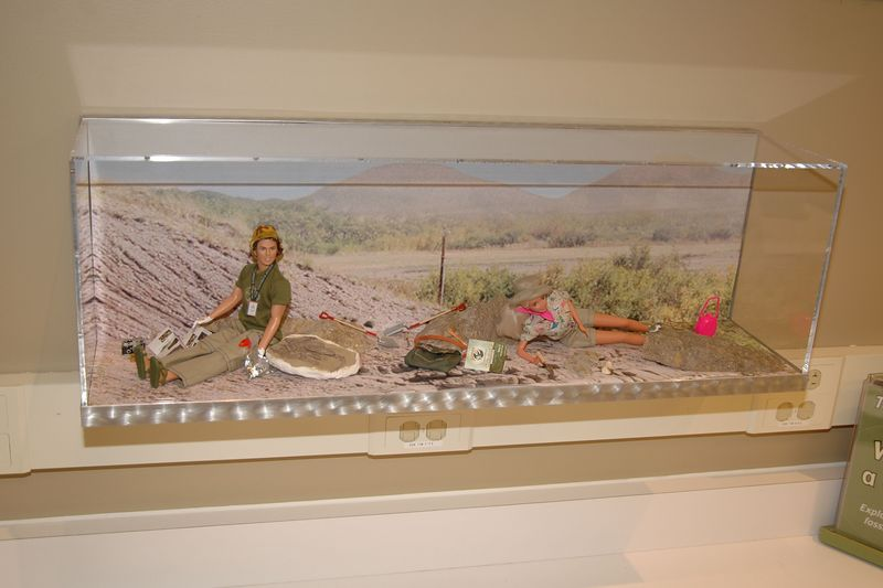 Ken and Barbie help out at the dig too.