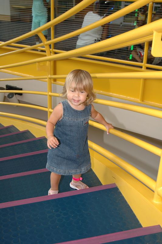 Alice enjoyed all of the stairs at the Museum