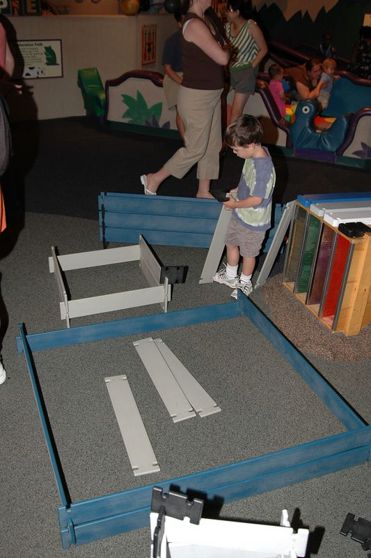 Charles creates his own construction area at the Museum