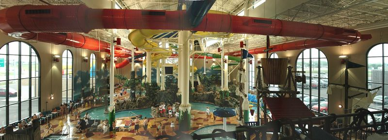 Panorama of the water park