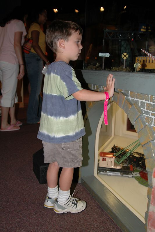 Looking wistfully at the model trains