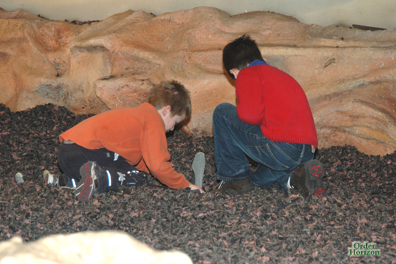 Corwin and Jack dig for dinosaur bones.