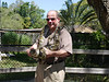 I was hoping this boa constrictor would not go to the bathroom while holding it. But then, I should have thought about having the life squeezed out of me at the Sarasota Jungle Gardens!<br /> ©2012 Margie Pretzman. All rights reserved.