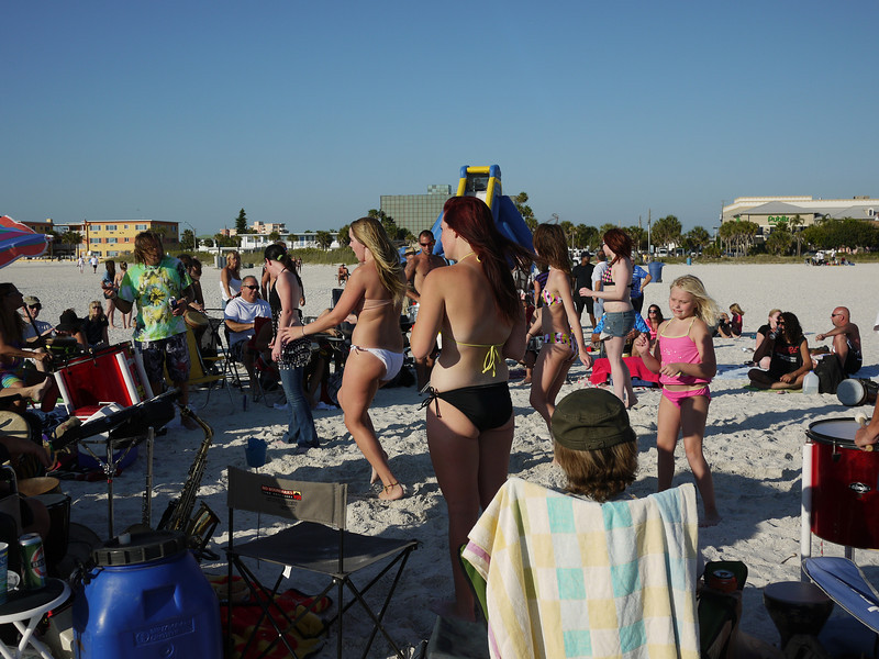 Treasure Island's weekly Sunday evening bongothon.<br /> ©2012 Thomas Stanziale. All rights reserved.