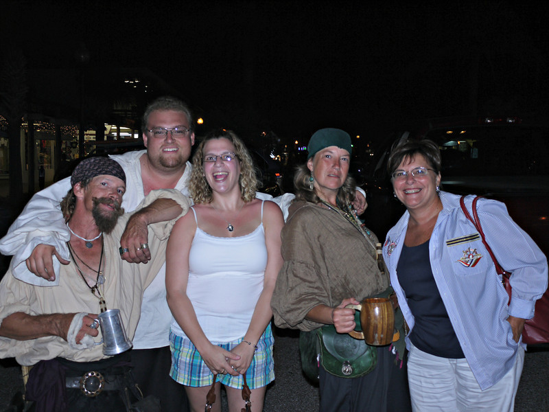 Katie & Margie spending an evening with their favorite pirates.<br /> Johns Pass Village, Madeira Beach, FL