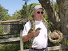Henry has a cool composure even handling a snake.<br /> Sarasota Jungle Gardens.