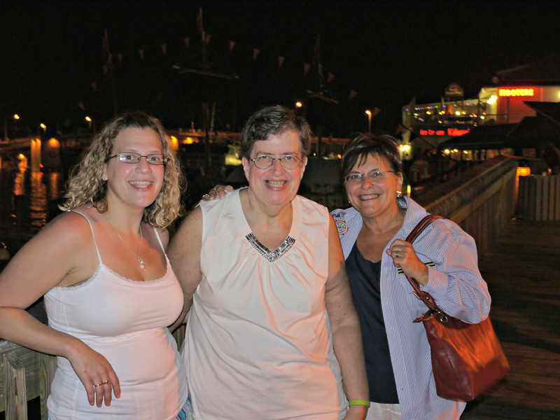 Katie, Penny and Margie at John's Pass.