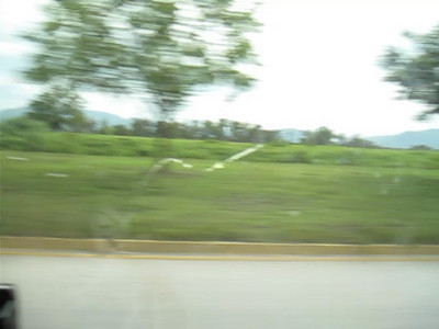 Highway driving just outside San Pedro Sula, Honduras