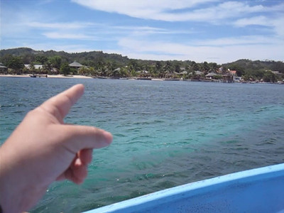 Taking a water taxi from West End to West Bay, Roatan, Honduras