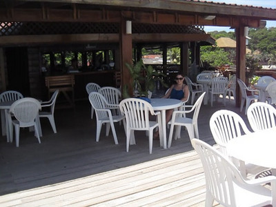 Some dominican owned dock bar in West End, Roatan, Honduras.