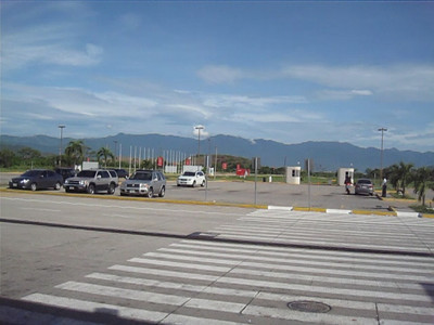 View of the mountains from the airport at San Pedro Sula, Honduras.