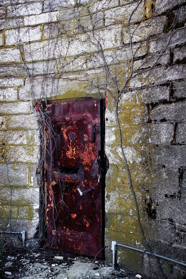 This door leads to the outside of the penitentiary, the free world.