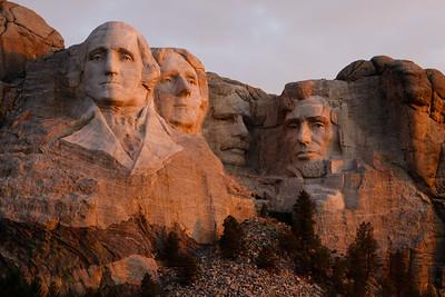 Sunrise at Mount Rushmore
